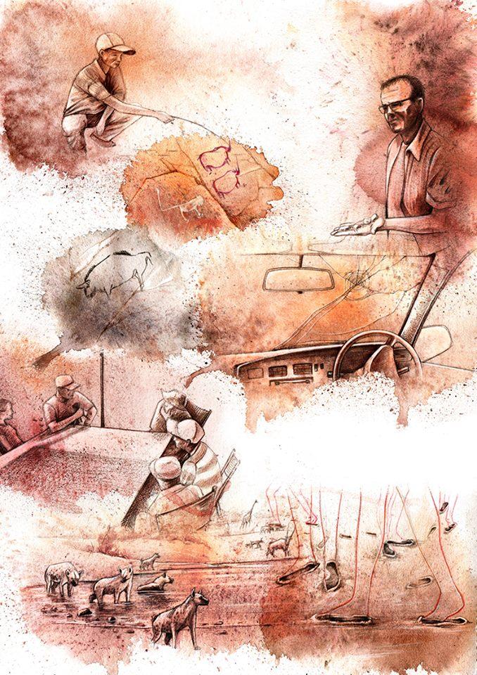 Andreas Derebucha Reportage Illustration Namibia